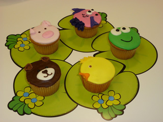 cupcakes decorados como animales